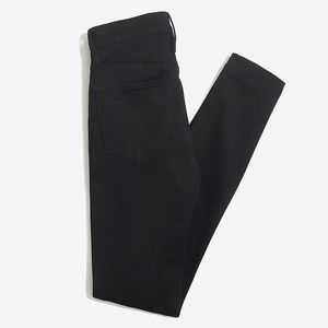 "NWT J. CREW 9"" high-rise skinny jean in black"